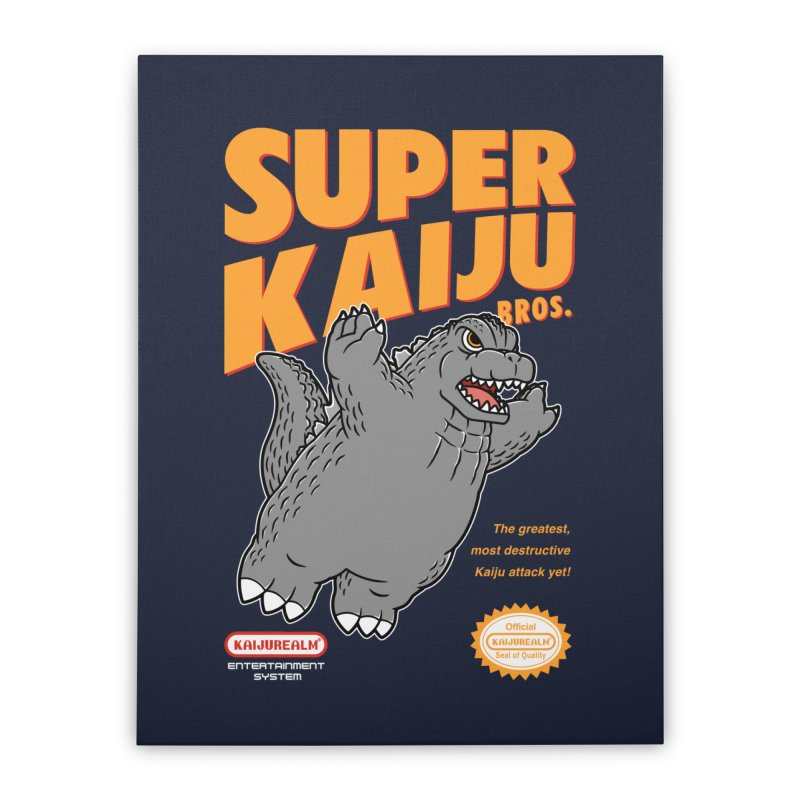 Super Kaiju Bros. Home Stretched Canvas by Pigboom's Artist Shop