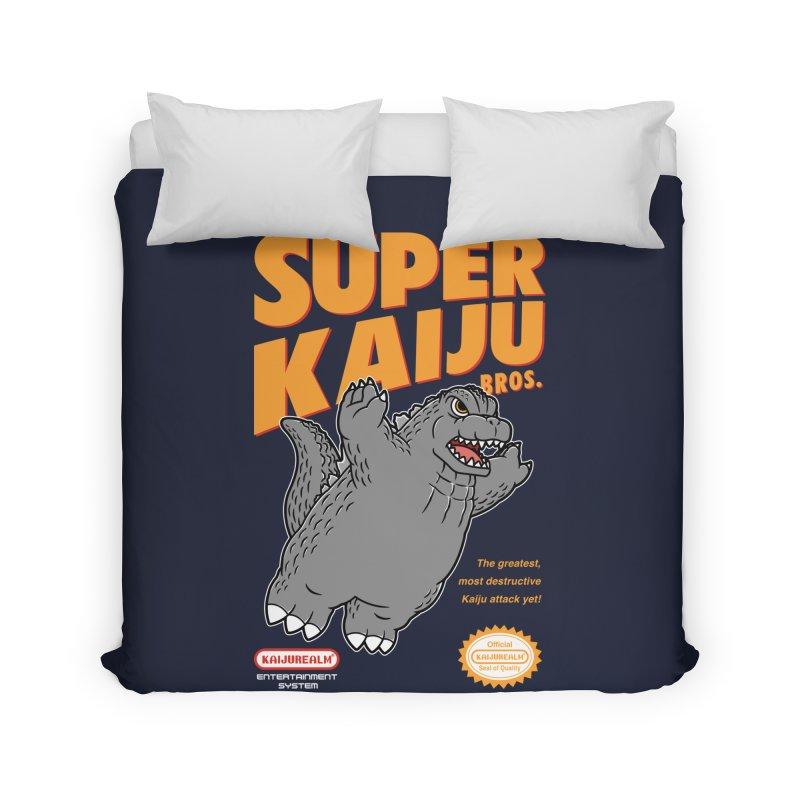 Super Kaiju Bros. Home Duvet by Pigboom's Artist Shop