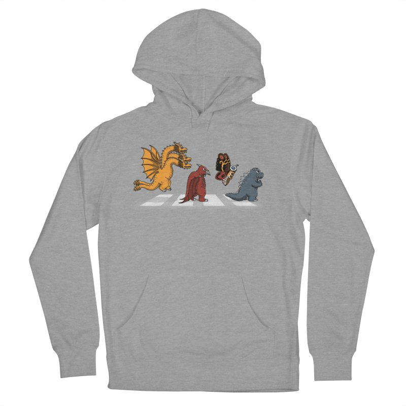 Kaiju Road Men's French Terry Pullover Hoody by Pigboom's Artist Shop
