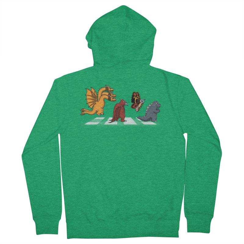 Kaiju Road Men's French Terry Zip-Up Hoody by Pigboom's Artist Shop