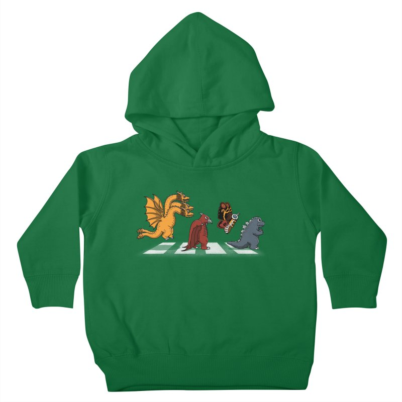Kaiju Road Kids Toddler Pullover Hoody by Pigboom's Artist Shop