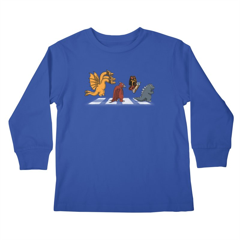 Kaiju Road Kids Longsleeve T-Shirt by Pigboom's Artist Shop