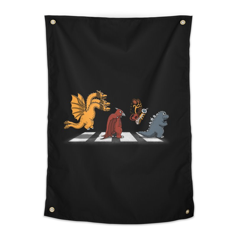 Kaiju Road Home Tapestry by Pigboom's Artist Shop