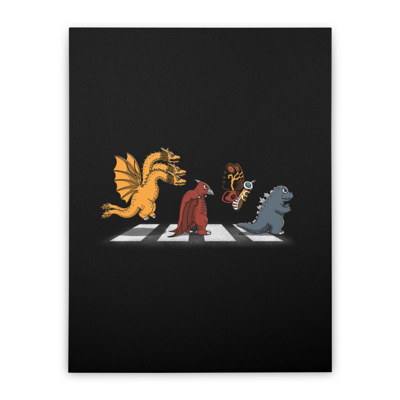 Kaiju Road Home Stretched Canvas by Pigboom's Artist Shop