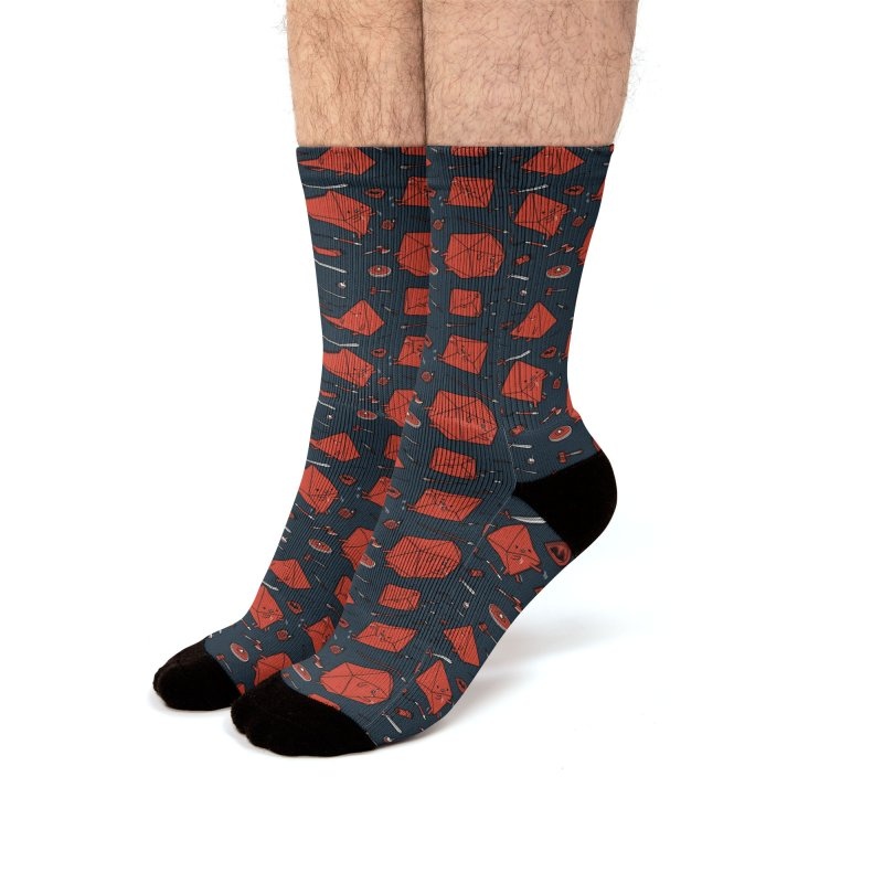 Critical Fail Moments Men's Socks by Pigboom's Artist Shop