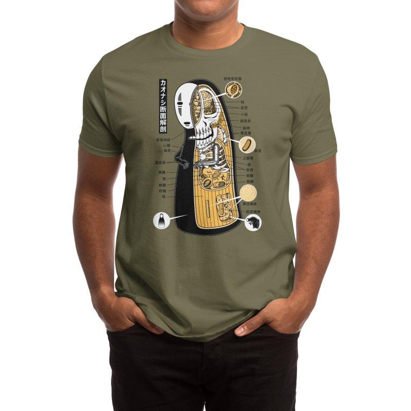 Facelss Spirit Cross-Sectional Anatomy Men's T-Shirt by Pigboom's Artist Shop