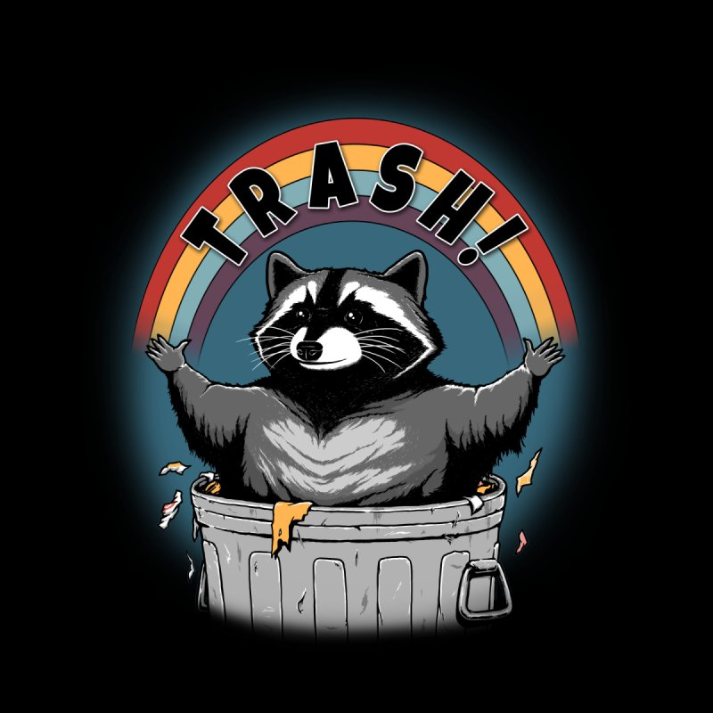 Trash! - Black Version Accessories Bag by Pigboom's Artist Shop