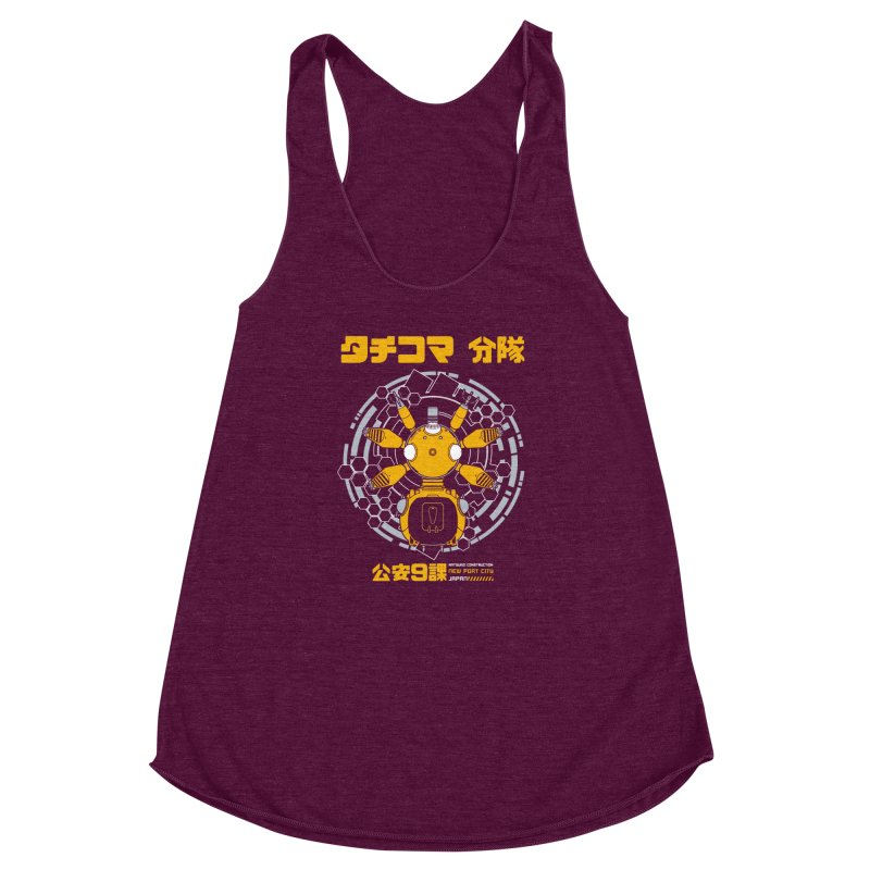 Tachi-Yellow Squad Women's Racerback Triblend Tank by Pigboom's Artist Shop