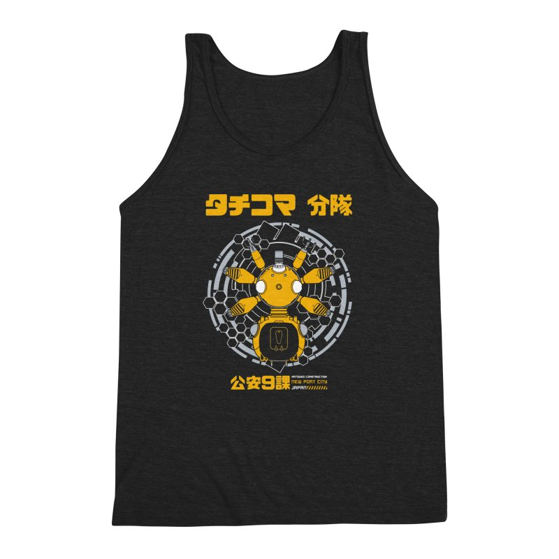 Tachi-Yellow Squad Men's Triblend Tank by Pigboom's Artist Shop