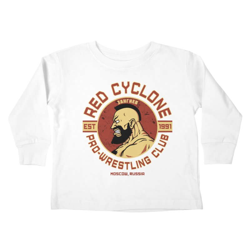 Pro-Wrestling Club Kids Toddler Longsleeve T-Shirt by Pigboom's Artist Shop