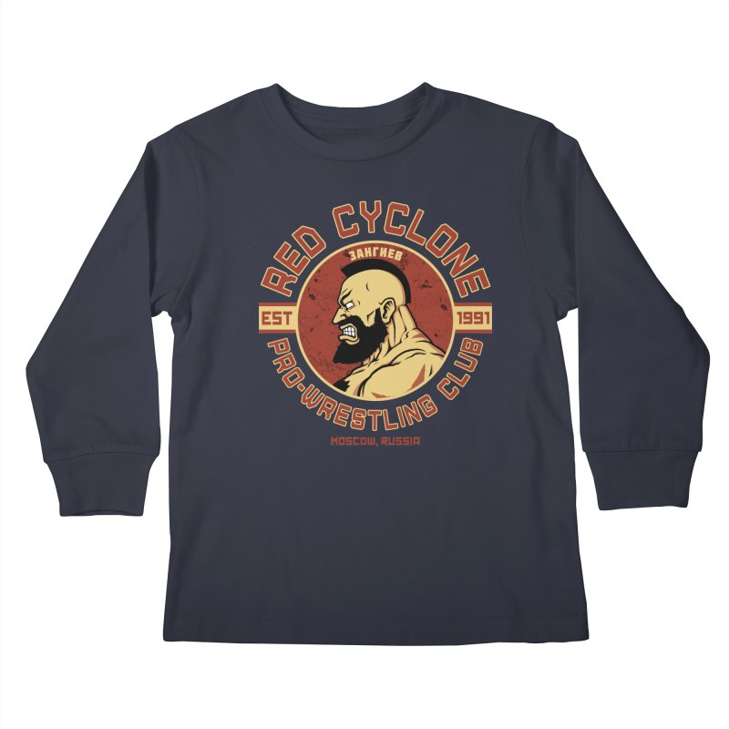 Pro-Wrestling Club Kids Longsleeve T-Shirt by Pigboom's Artist Shop