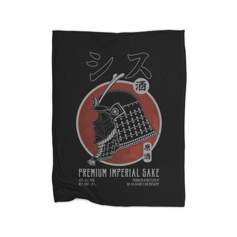 Premium Imperial Sake Home Fleece Blanket by Pigboom's Artist Shop