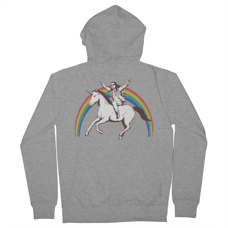 X-treme Unicorn Ride Men's Zip-Up Hoody by Pigboom's Artist Shop