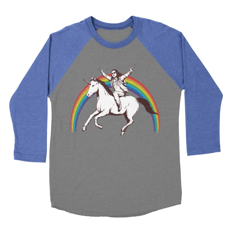 X-treme Unicorn Ride Women's Baseball Triblend T-Shirt by Pigboom's Artist Shop