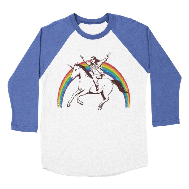 X-treme Unicorn Ride Men's Baseball Triblend T-Shirt by Pigboom's Artist Shop