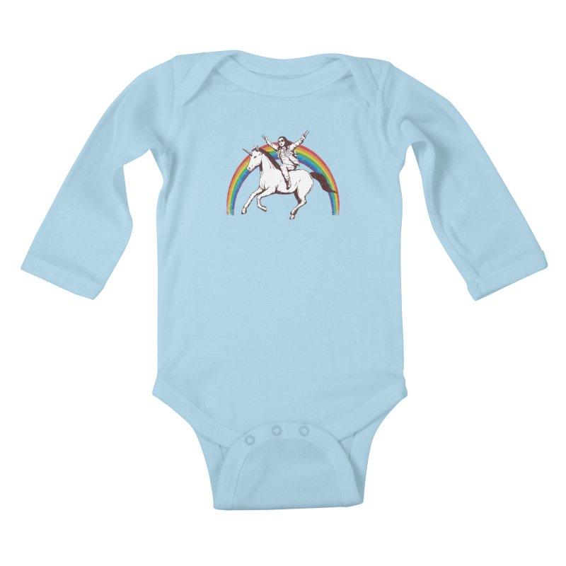 X-treme Unicorn Ride Kids Baby Longsleeve Bodysuit by Pigboom's Artist Shop