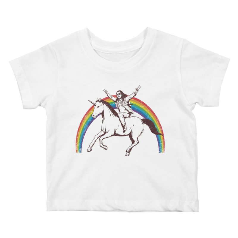 X-treme Unicorn Ride Kids Baby T-Shirt by Pigboom's Artist Shop