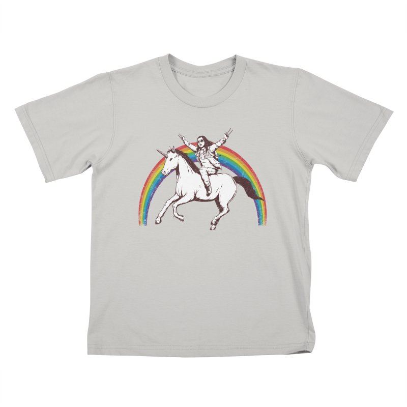 X-treme Unicorn Ride Kids T-shirt by Pigboom's Artist Shop