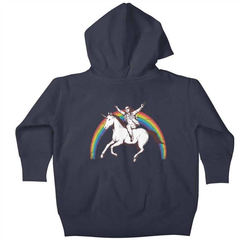 X-treme Unicorn Ride Kids Baby Zip-Up Hoody by Pigboom's Artist Shop