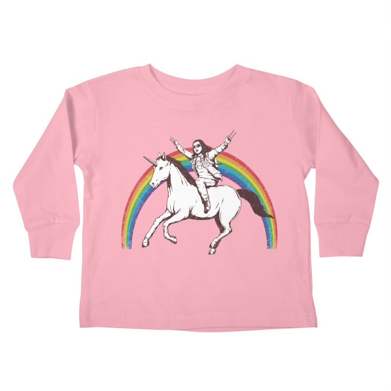 X-treme Unicorn Ride Kids Toddler Longsleeve T-Shirt by Pigboom's Artist Shop