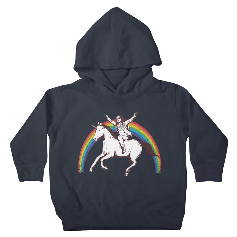 X-treme Unicorn Ride Kids Toddler Pullover Hoody by Pigboom's Artist Shop