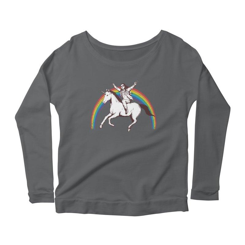 X-treme Unicorn Ride Women's Longsleeve Scoopneck  by Pigboom's Artist Shop