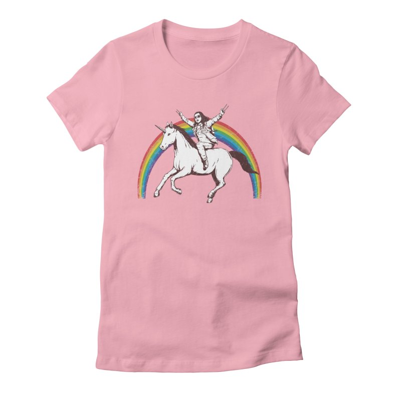 X-treme Unicorn Ride Women's Fitted T-Shirt by Pigboom's Artist Shop