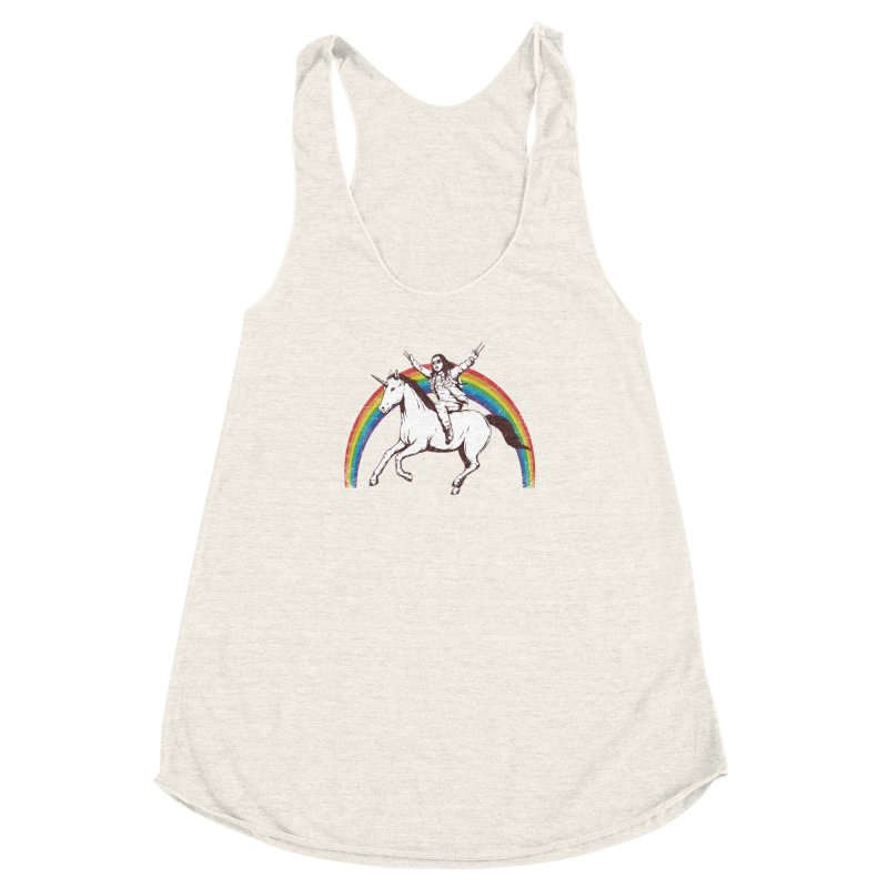 X-treme Unicorn Ride Women's Racerback Triblend Tank by Pigboom's Artist Shop