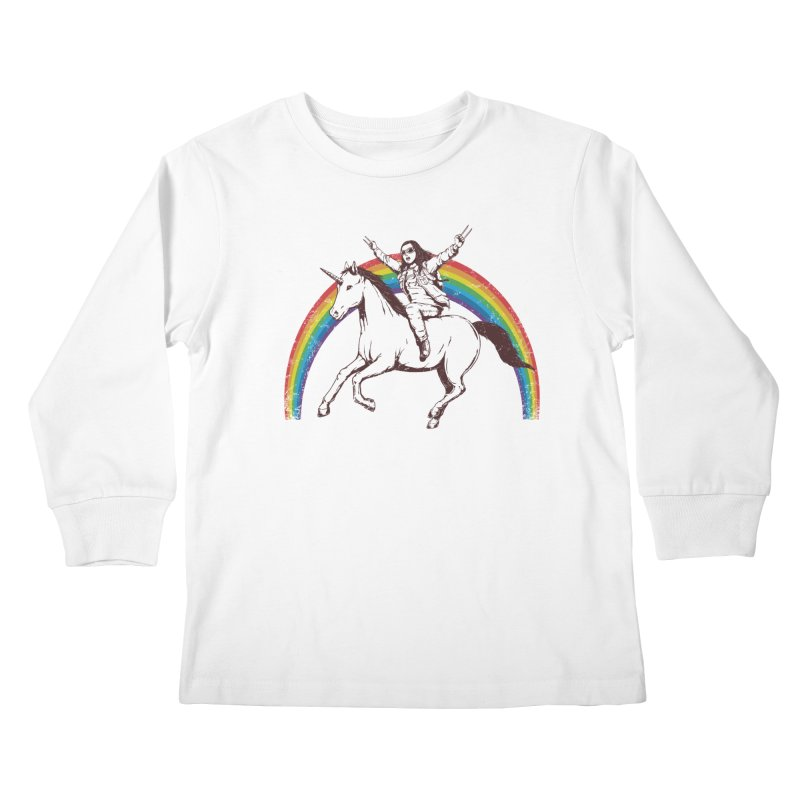 X-treme Unicorn Ride Kids Longsleeve T-Shirt by Pigboom's Artist Shop