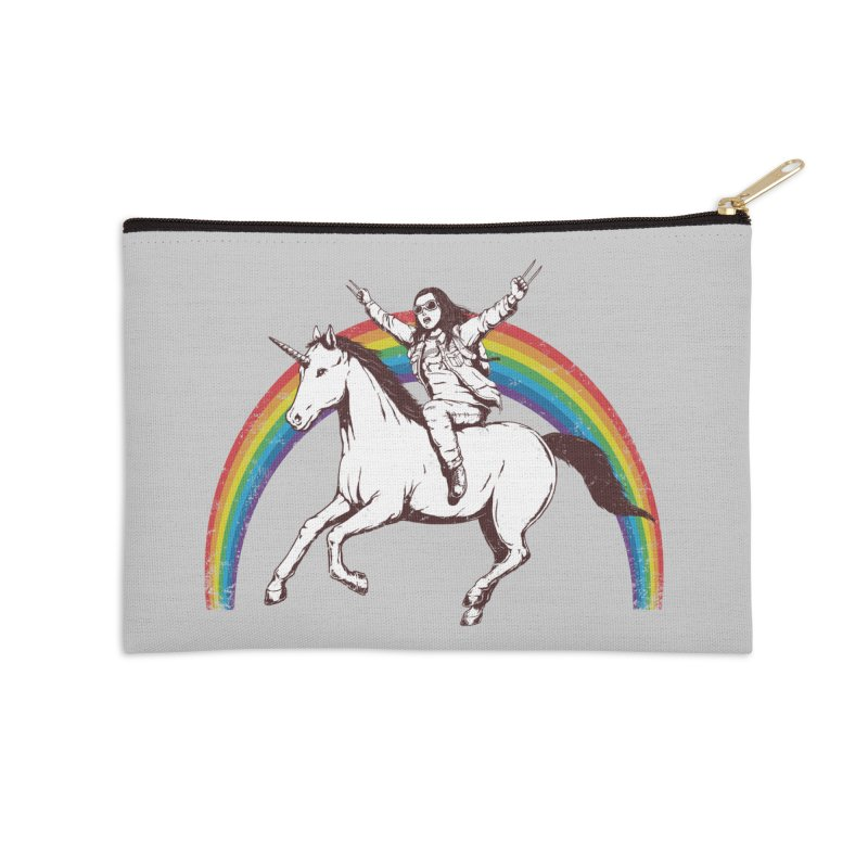 X-treme Unicorn Ride Accessories Zip Pouch by Pigboom's Artist Shop