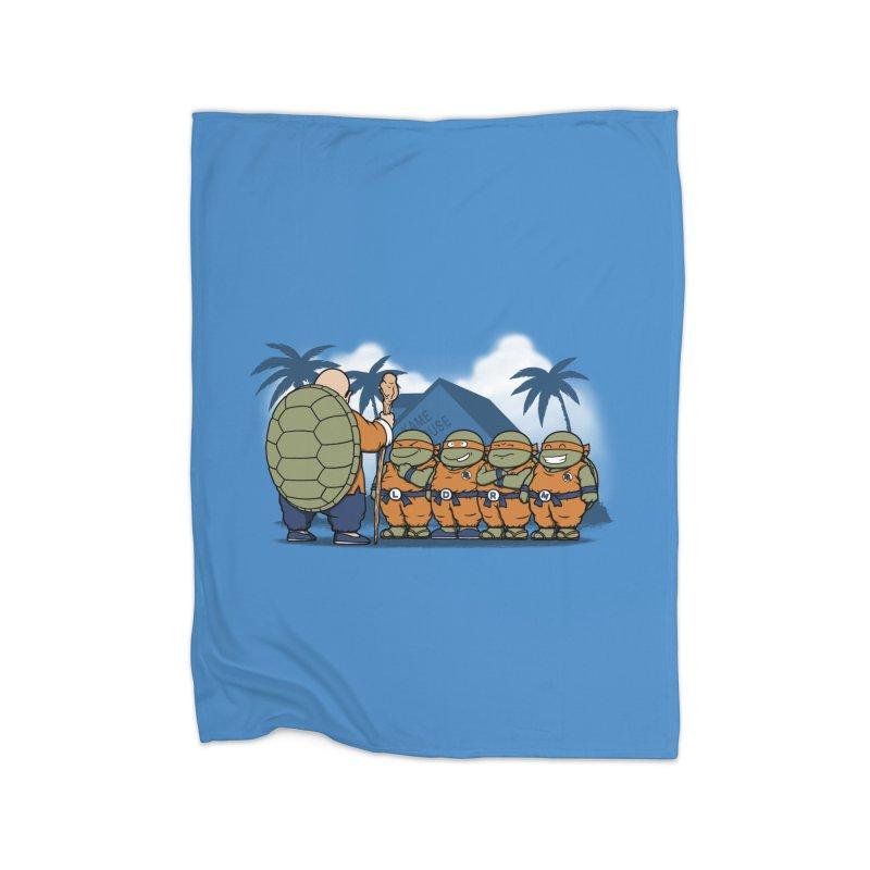 Ninja Kame Kids Home Fleece Blanket by Pigboom's Artist Shop