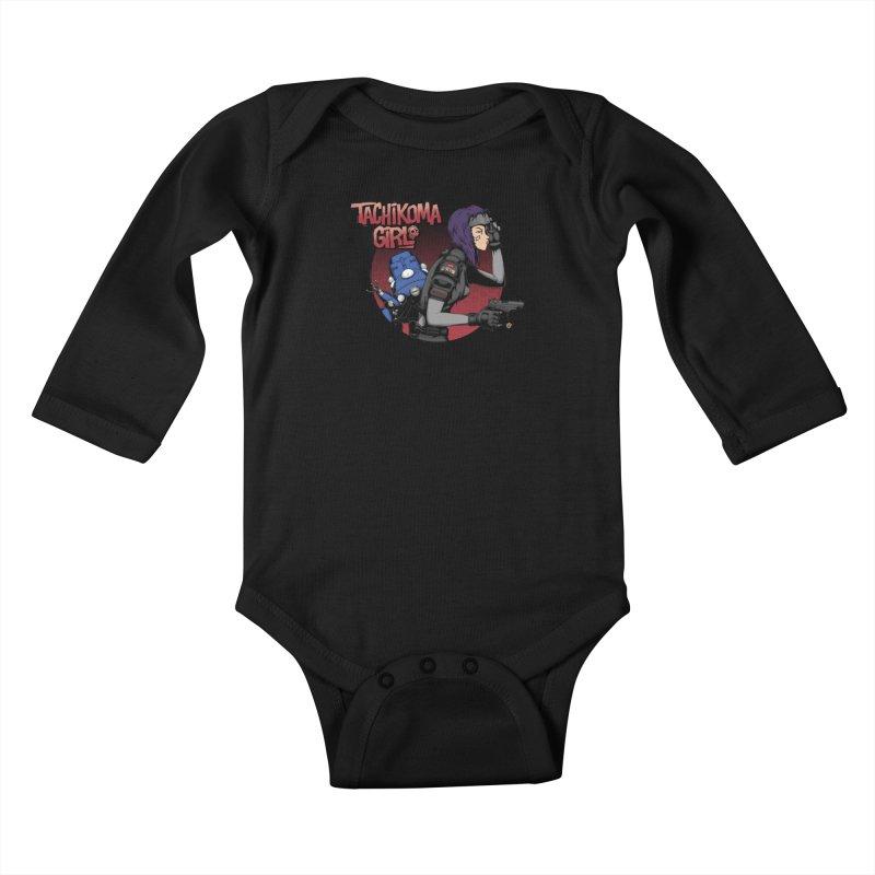 Tachi-Tank Girl Kids Baby Longsleeve Bodysuit by Pigboom's Artist Shop