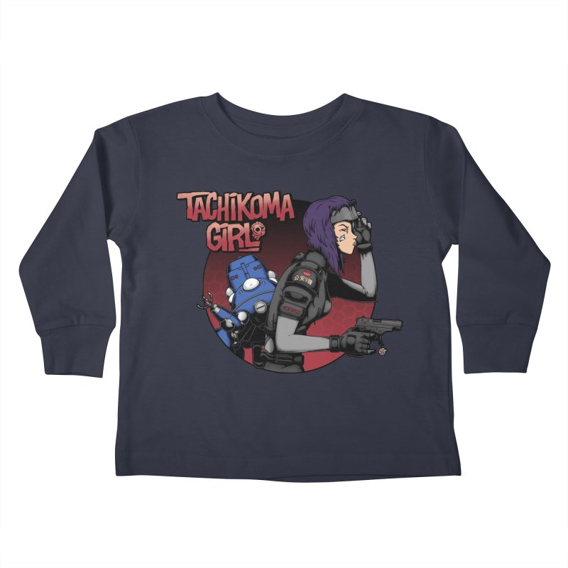Tachi-Tank Girl Kids Toddler Longsleeve T-Shirt by Pigboom's Artist Shop