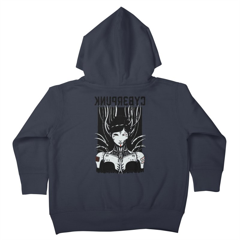 Cyberpunk Kids Toddler Zip-Up Hoody by Pigboom's Artist Shop