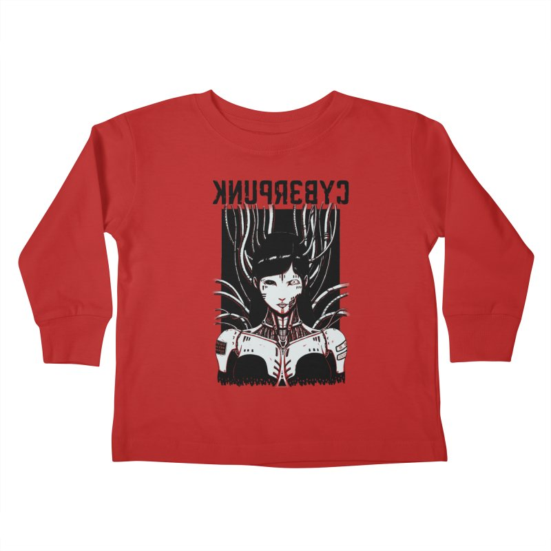 Cyberpunk Kids Toddler Longsleeve T-Shirt by Pigboom's Artist Shop