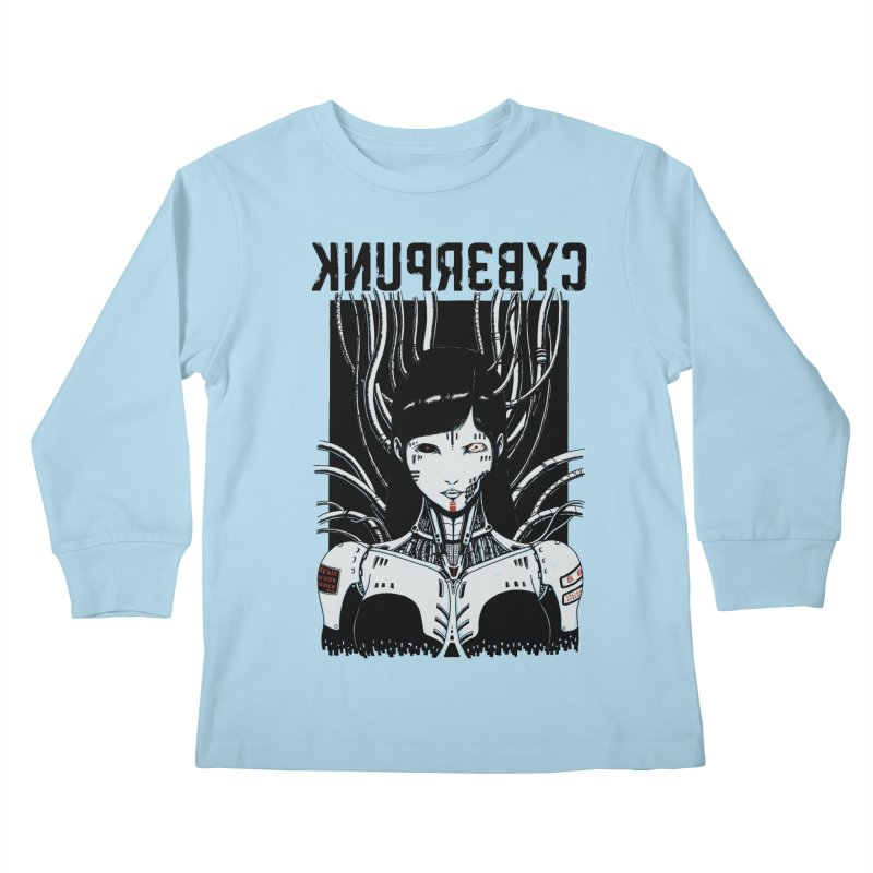 Cyberpunk Kids Longsleeve T-Shirt by Pigboom's Artist Shop