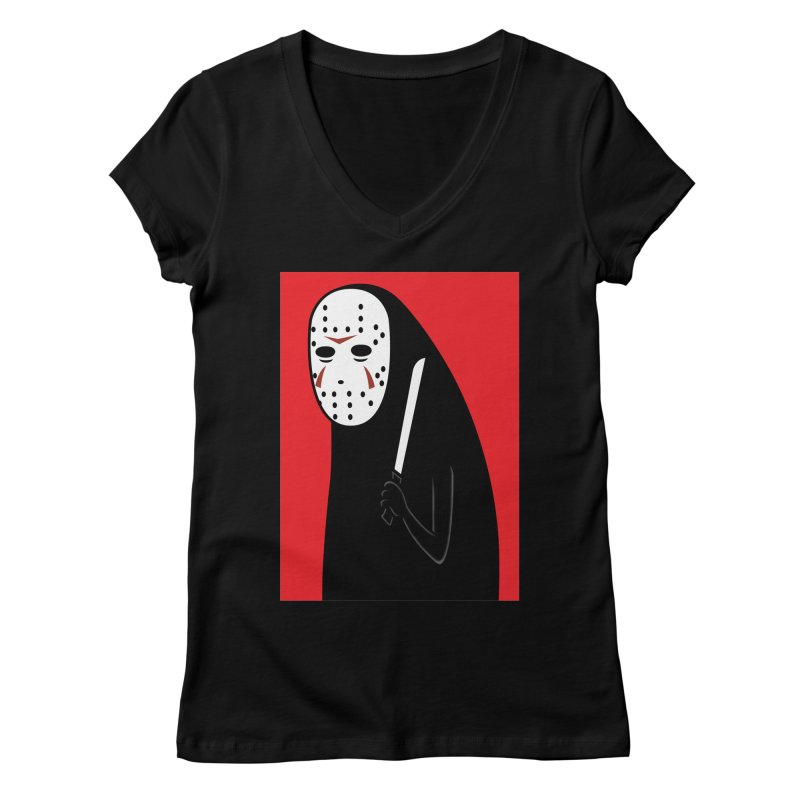 Killah - Face Women's V-Neck by Pigboom's Artist Shop