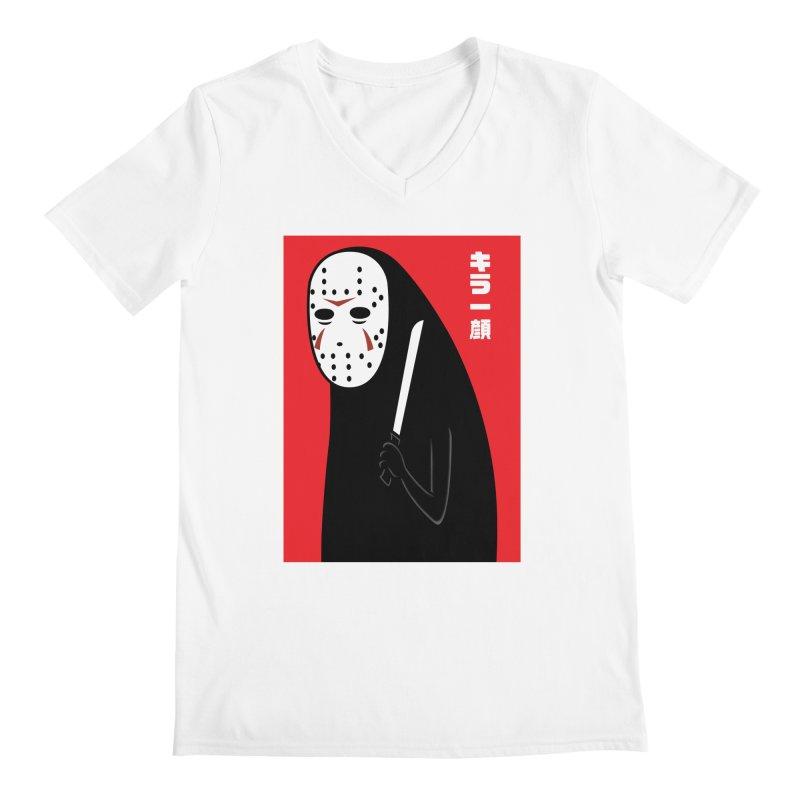 Killer Face Men's V-Neck by Pigboom's Artist Shop