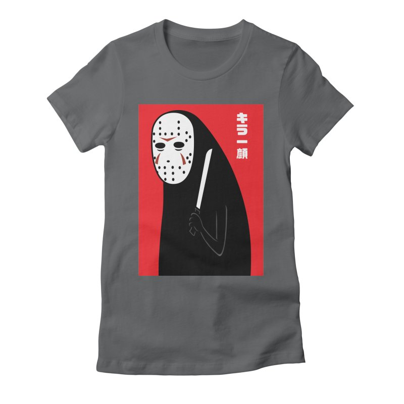 Killer Face Women's Fitted T-Shirt by Pigboom's Artist Shop