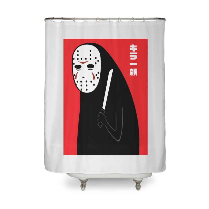 Killer Face Home Shower Curtain by Pigboom's Artist Shop