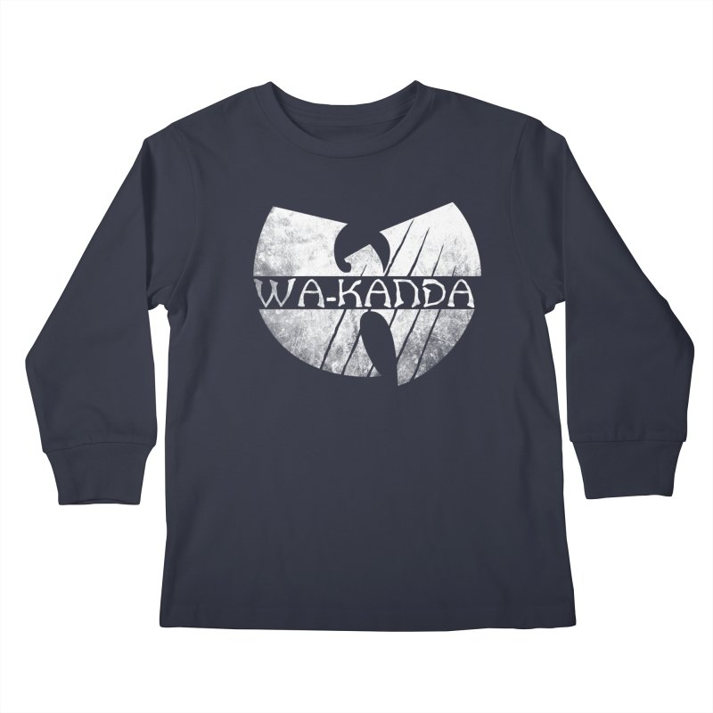 Wu-Kanda Clan Kids Longsleeve T-Shirt by Pigboom's Artist Shop