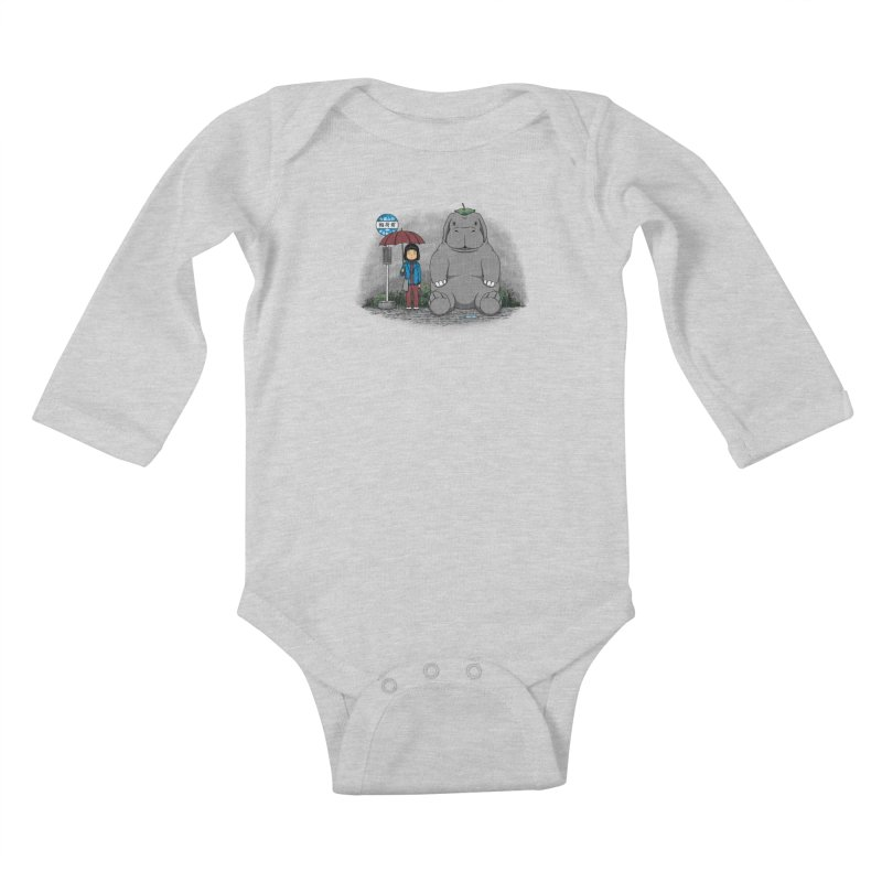 My Super Pig Kids Baby Longsleeve Bodysuit by Pigboom's Artist Shop