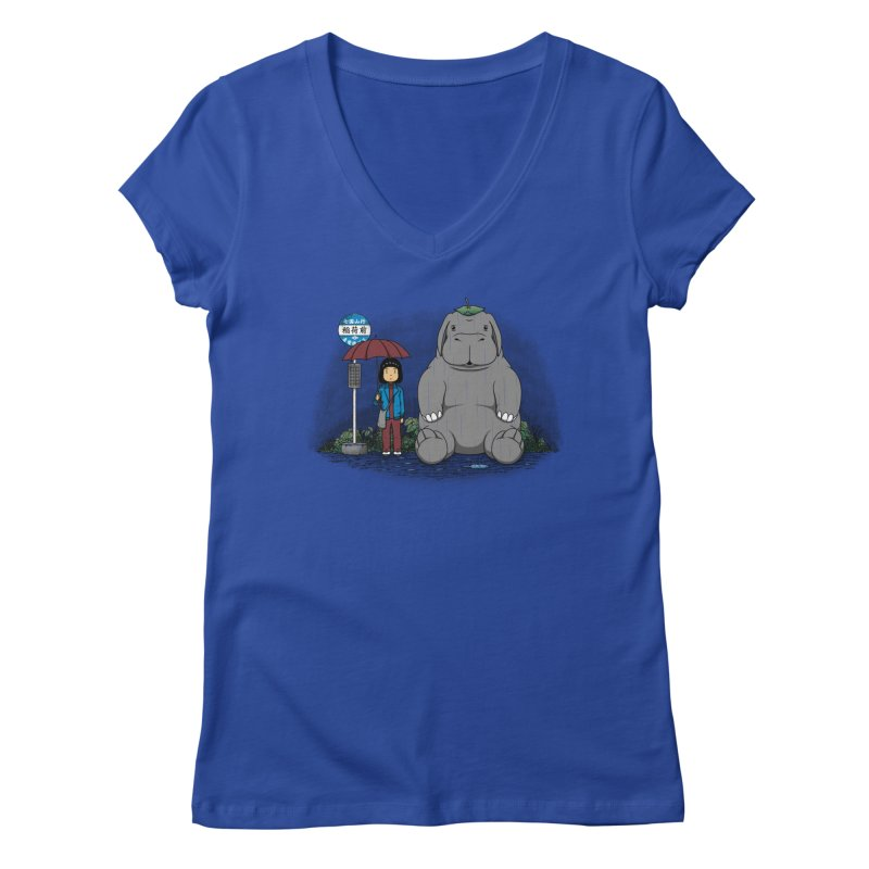 My Super Pig Women's V-Neck by Pigboom's Artist Shop