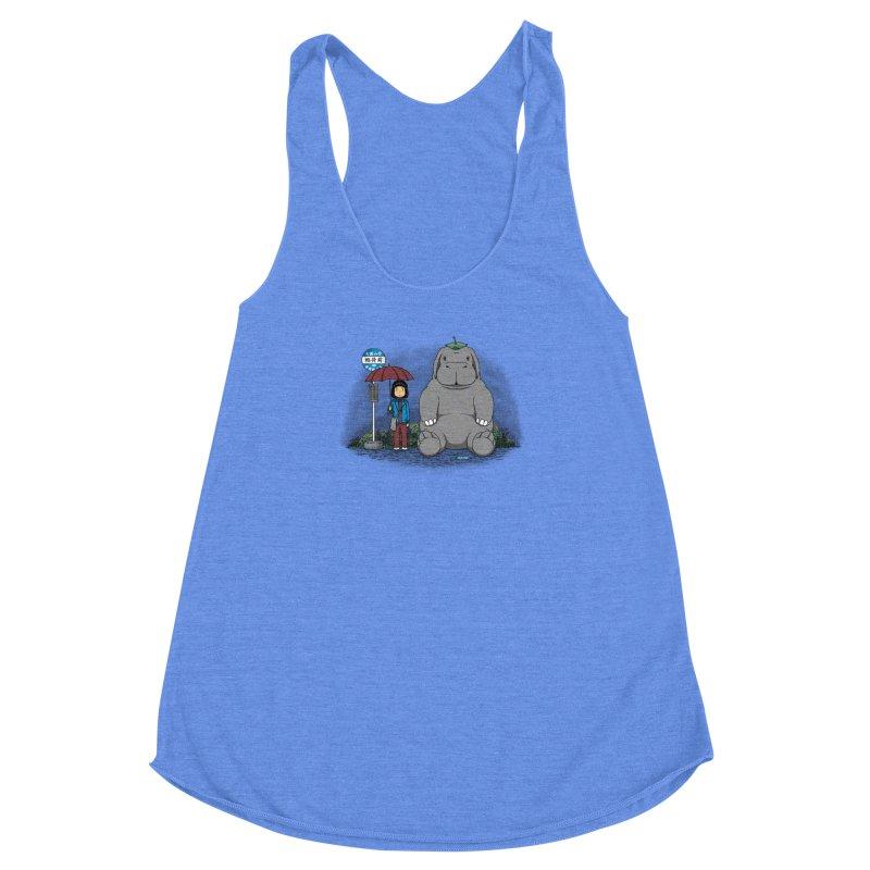 My Super Pig Women's Racerback Triblend Tank by Pigboom's Artist Shop