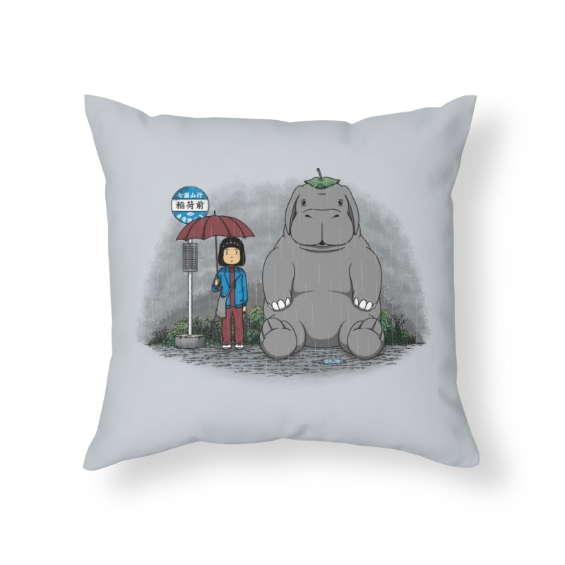 My Super Pig Home Throw Pillow by Pigboom's Artist Shop