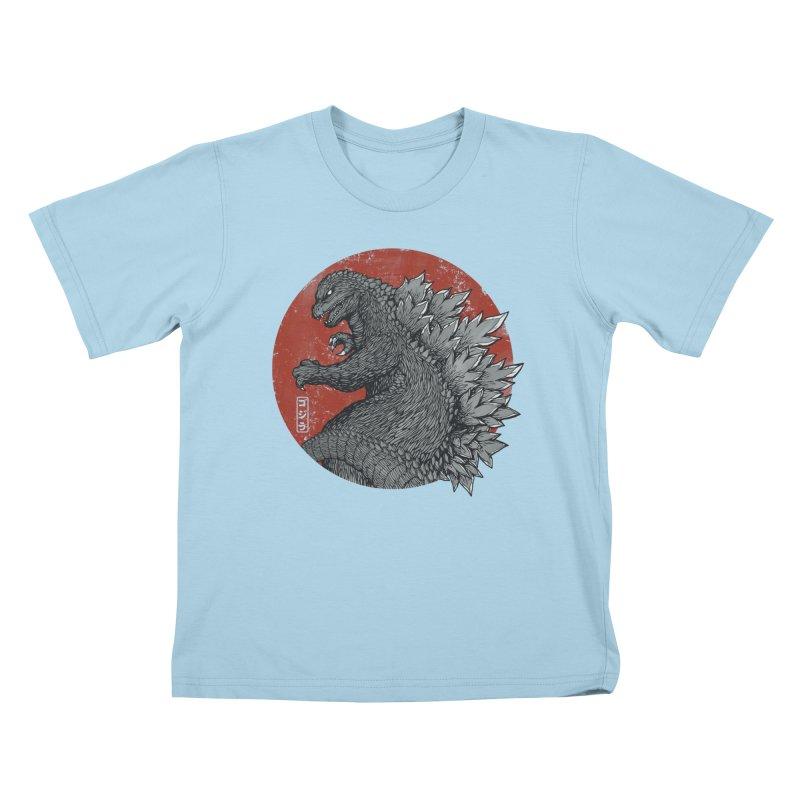 Tokyo Kaiju Kids T-shirt by Pigboom's Artist Shop