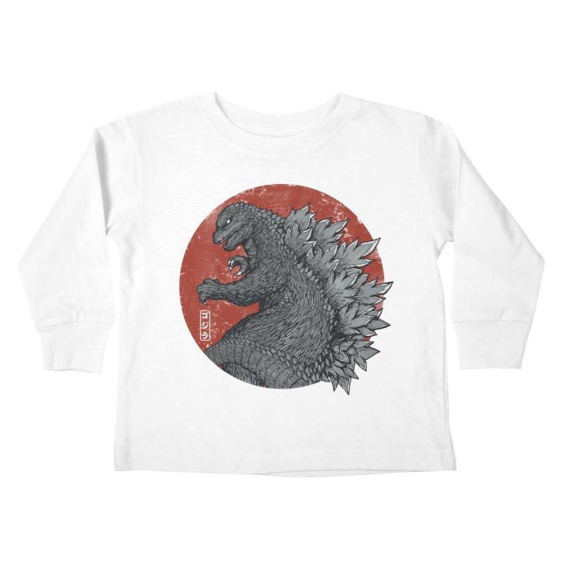 Tokyo Kaiju Kids Toddler Longsleeve T-Shirt by Pigboom's Artist Shop