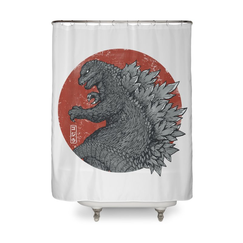 Tokyo Kaiju Home Shower Curtain by Pigboom's Artist Shop