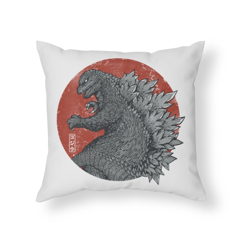 Tokyo Kaiju Home Throw Pillow by Pigboom's Artist Shop