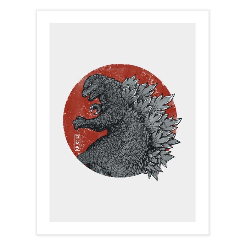 Tokyo Kaiju Home Fine Art Print by Pigboom's Artist Shop